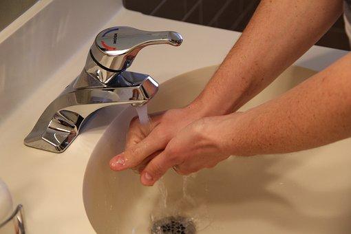 Sink, Washing Hands, Water, Hygiene, Wash, Clean, Soap