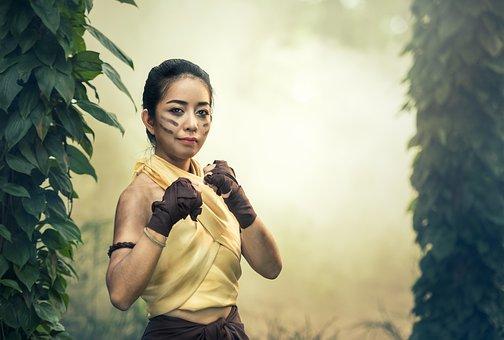 Lady, Glove, Power, Sports, Asia, Athlete, Seductive