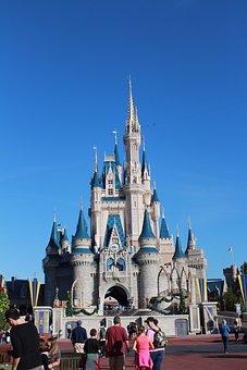Magic Kingdom, Disney, Orlando, Theme Park, Castle