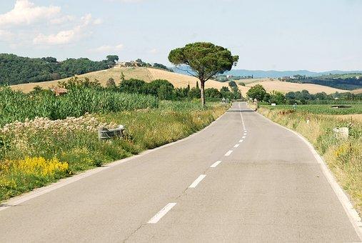 Italy, Tuscany, Road, Roadtrip, Landscape, Italian