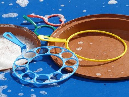Soap Bubbles, Bubble Production, Bubble Table, Toys