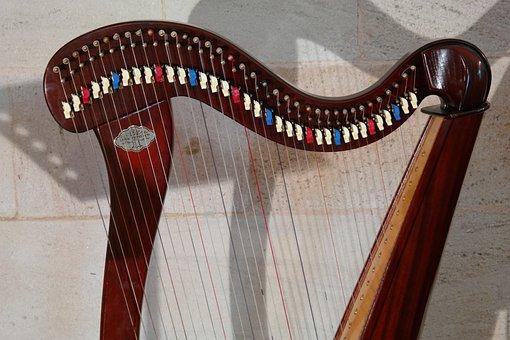 Harp, Plucked String Instrument, Musical Instrument