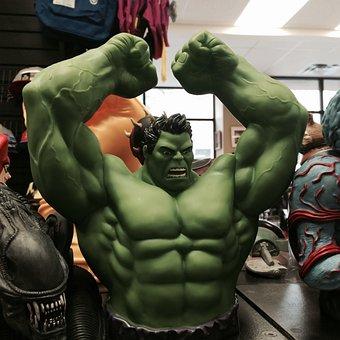 Incredible Hulk, Superhero, Toy, Green, Muscular