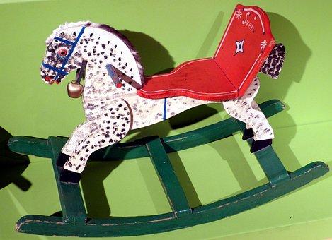 Rocking Horse, Child, Children, Play, Toys, Children's
