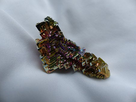 Glazed Includes, Mineral, Iridescent, Bismuth