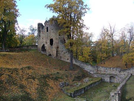 Autumn, Cesis Castle, Latvia