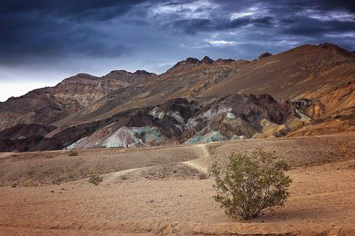 Death Valley, Artists Drive, Blue Stone, Colorful