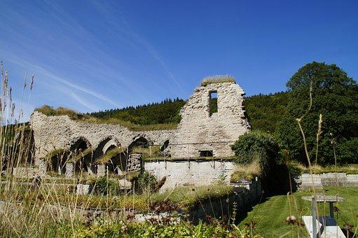 Omberg, Sweden, Monastery Ruins, Alvastra, Ruin