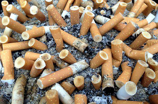 Cigarettes, Filter Cigarettes, Nicotine, Addiction, Ash
