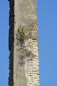 Abandoned Place, High Chimney, Fireplace, Spinning