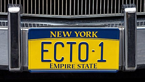 Ghostbusters, Ecto-1, Licence, Plate, Registration