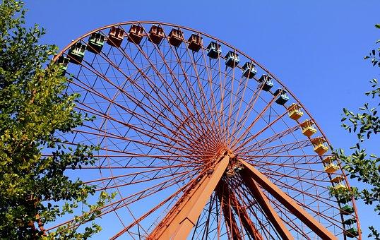Ferris Wheel, Amusement Park, Ride, Wheel, Ferris, Fun
