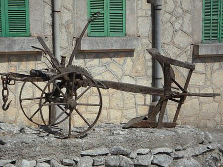 Plough, Horse Plow, Old Plough, Rusted, Old, Plow