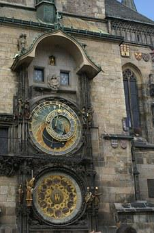 Clock, Zodiac, Time, Astrology, Astronomy, Antique