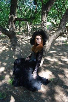 Witch, Forest, Dark, Gothic, The Model, Makeup, Fineart