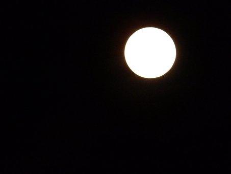 Moonlight, Full Moon, Night, Sphere, Moon, Full, Dark