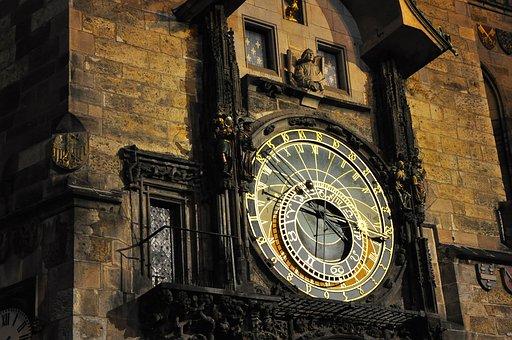 Prague, Clock, Tower, Astronomical, Old, Czech, Town