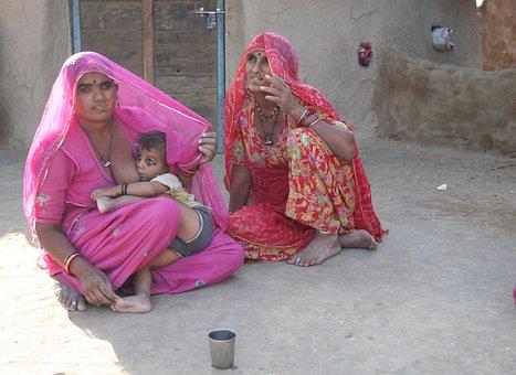 Women, Breastfeeding, Rajasthan, Mother, Child
