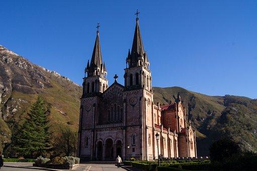 Asturias, Covadonga, Church, Construction, Sanctuary