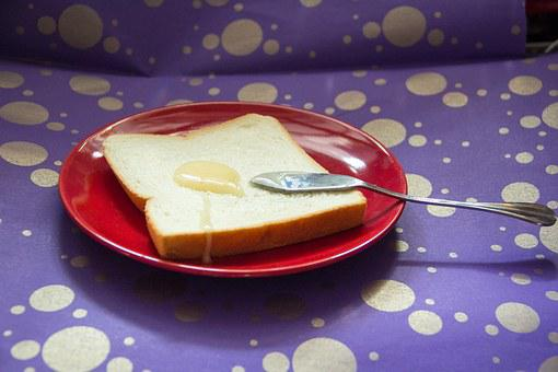 Toast, Bread, Red, Purple, Gold, Honey, Honey Sauce