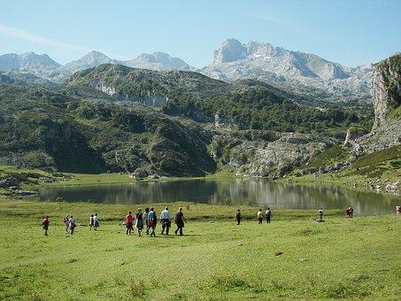 Asturias, Lake, Water, Nature, Green, Spain, Mountains