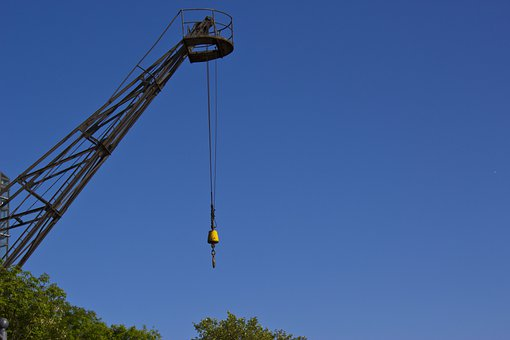 Crane, Raise, Hook, Load Lifter, Load Hook, Boom