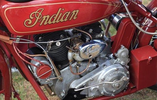 Netherlands, Woerden, Motorcycle, Engine, Indian