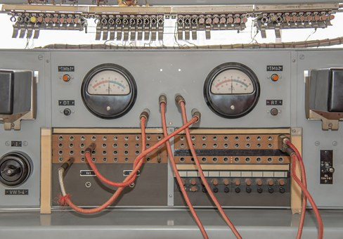 Fittings, Electric, Radio, Aircraft, Gauge, Old