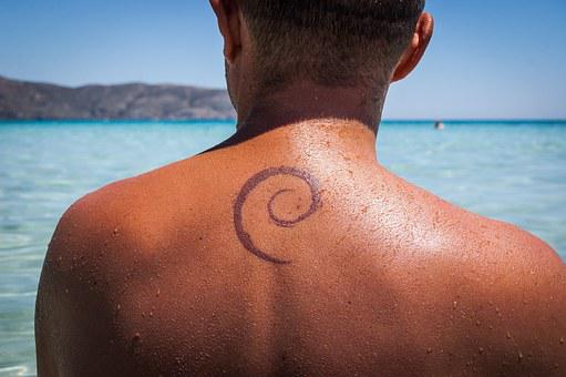 Tattoo, The Back, Geek, Debian, Linux