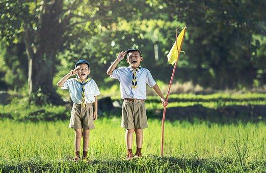 Boy, Scout, Scouting, Asia, Same, Thailand, Swear Word