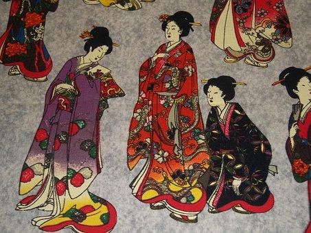 Chinese, Geisha, Kimono, Japan, Japanese, Asian