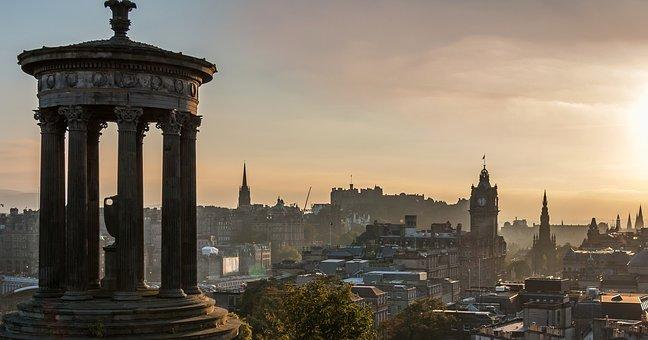 Edinburgh, Calton Hill, Princess Street