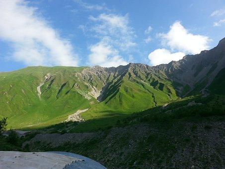 Mountains, Photo, Green, South Ossetia, Beautiful, High