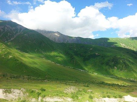 Mountains, Sky, Clouds, Landscape, Mountain, Rocks