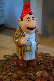 Dwarf, Man, In The Money, Lantern, Males, Coins, Cent
