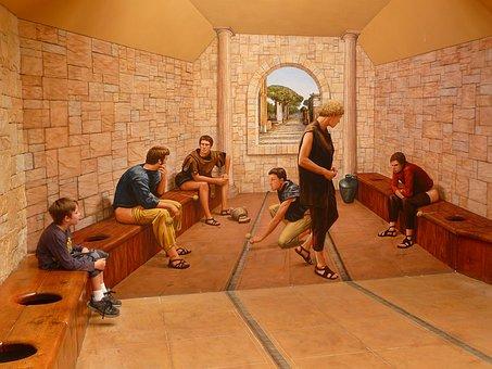 Toilet, Roman, Public, Sitting, History, Civilization