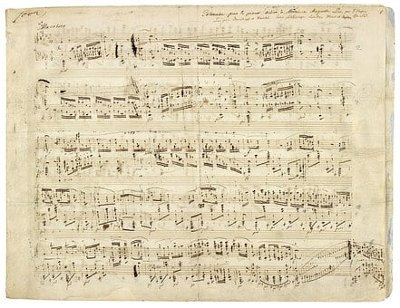Chopin, Music, Notenblatt, Composition, Composer, 1842
