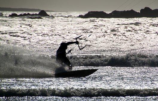 Kite Surfing, Kitesurfer, Kitesurfing, Surfer