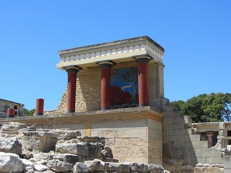 Fresco, Bull, Palace Of Knossos, Minoans