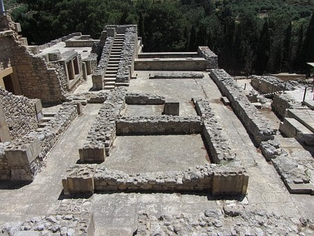 Ruins, Palace Of Knossos, Minoans, Island Of Crete