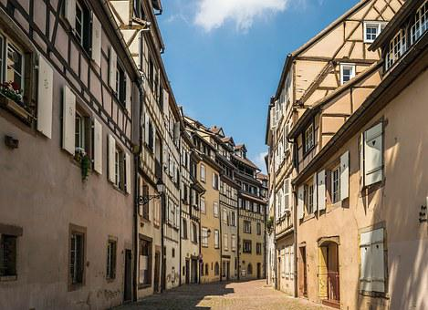 Road, Alley, Truss, Home, Facade, Cobblestones