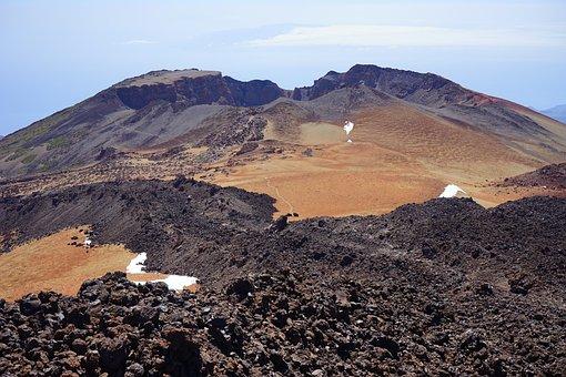 Pico Viejo, Lava Flow, Volcano, Volcanic Crater, Crater