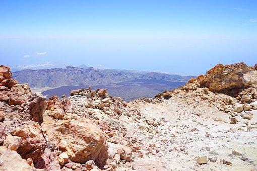 Teide, Outlook, Distant View, Read Cañadas, Caldera