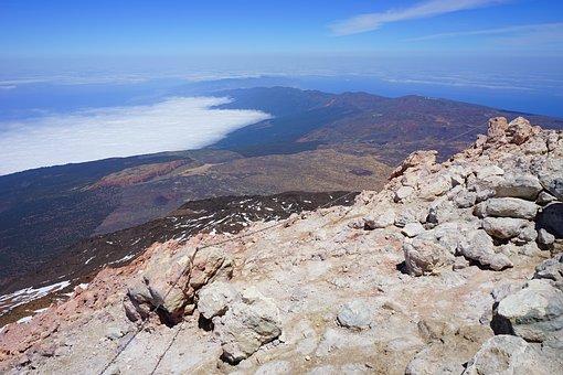 Teide, Pico Del Teide, Summit, Away, Outlook, View, Fog