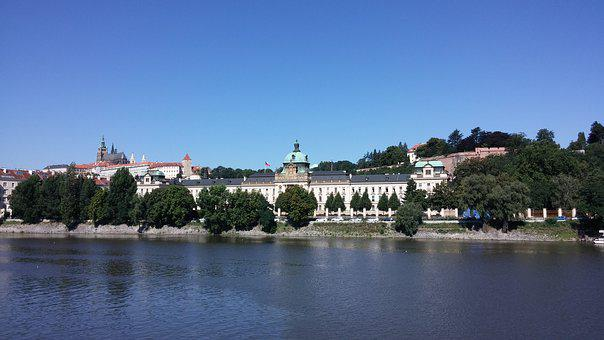 River, Prague, Vltava, Cityscape