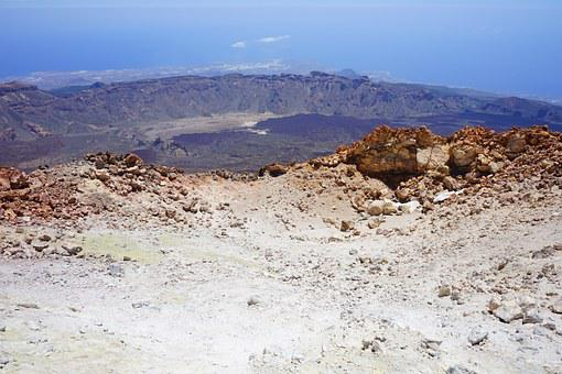 Teide, Pico Del Teide, Summit, Volcanic Crater, Crater