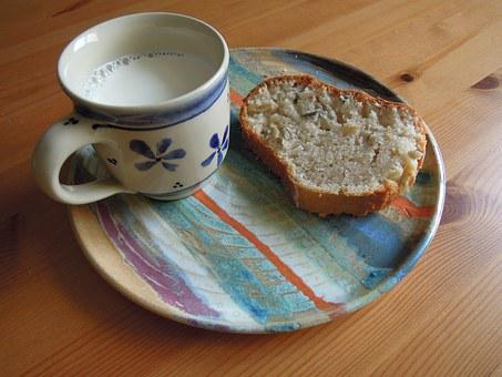 Brunch, Breakfast, Cup, Milk, Saucer, Plate, Patsy, Bun