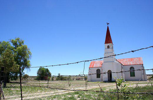 Church, Barbed Wire, Religion, Karoo, Douglas, Cape