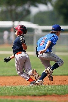 Baseball, Collision, Little League, Sport, Game, Boy