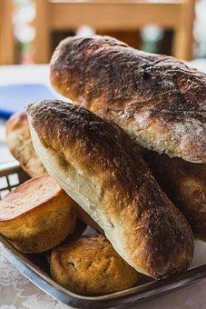 Breadbasket, Bread, Basket, Brown, Roll, Eat, Breakfast